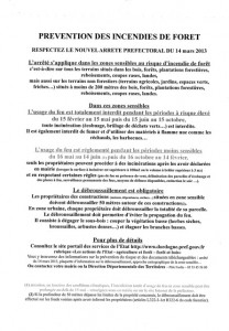 Pr vention des incendies de for t for Liste permis de construire gratuit